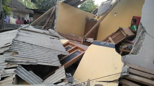 31 Kali Gempa Bumi Susulan Guncang NTB