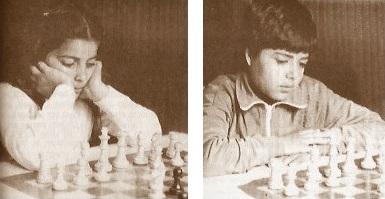 Los jóvenes ajedrecistas Montserrat Guapo y Jordi Guapo
