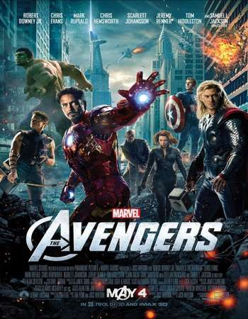 Poster Of The Avengers 2012 Dual Audio 175MB BRRip HEVC Mobile ESubs Free Download Watch Online Worldfree4u
