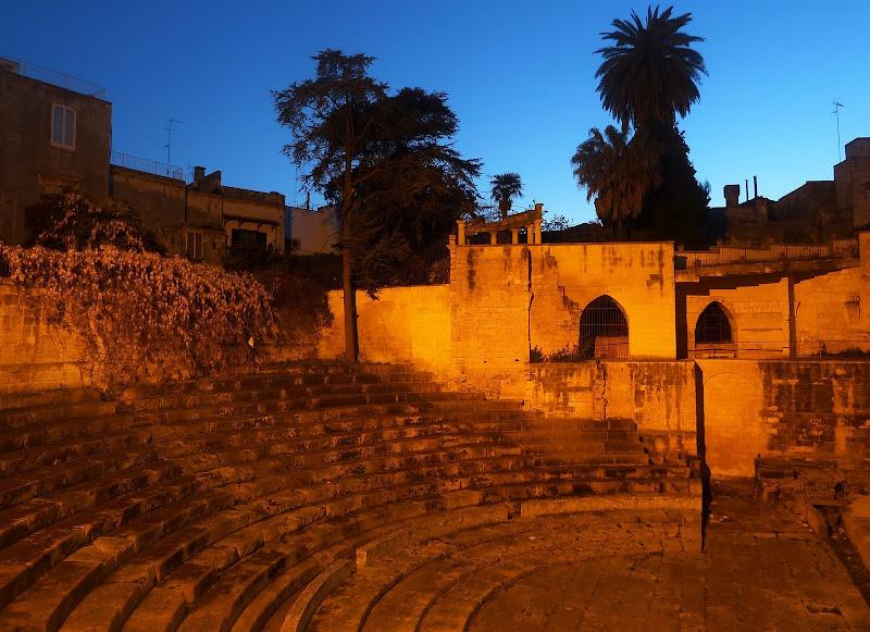 Teatro Romano oder Römisches Theater in Lecce (Apulien)