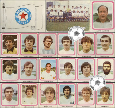 Hajduk Split album sličice Fudbaleri i Timovi 1981/82