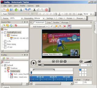 كيف تصنع علامة مائية لفيدوهاتك ببرنامج Watermark Master