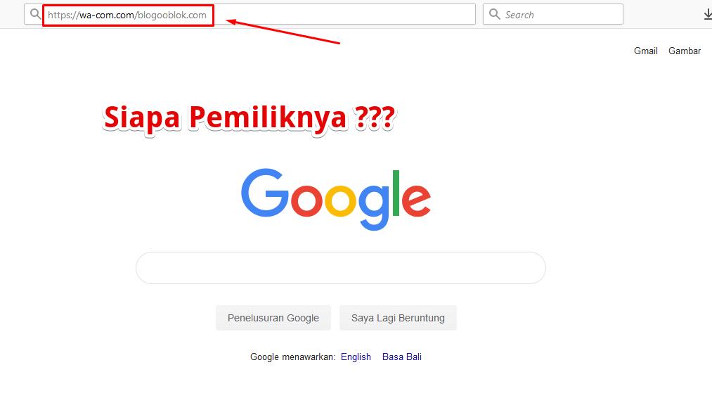 Cara Mudah Mengetahui Siapa Nama Pemilik Blog