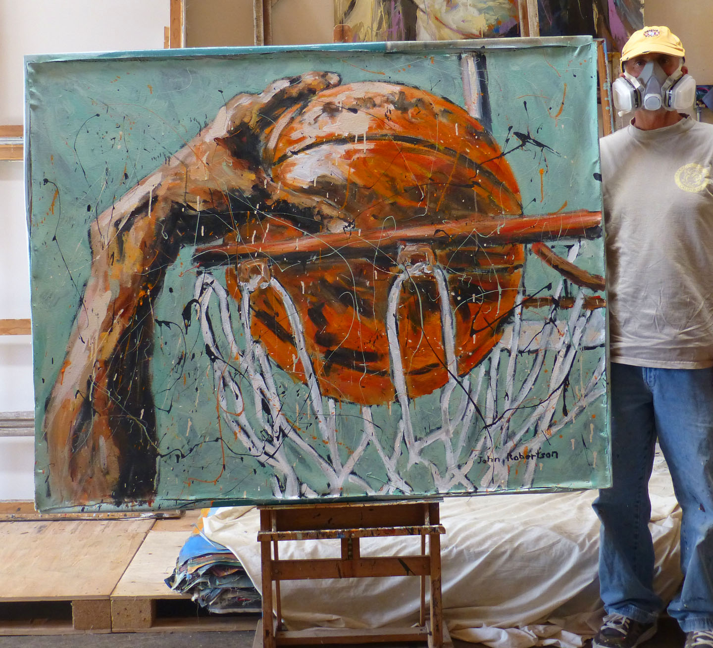 New Jersey Home Painting From J S Painting: Basketball Painting Dunk Shot Image
