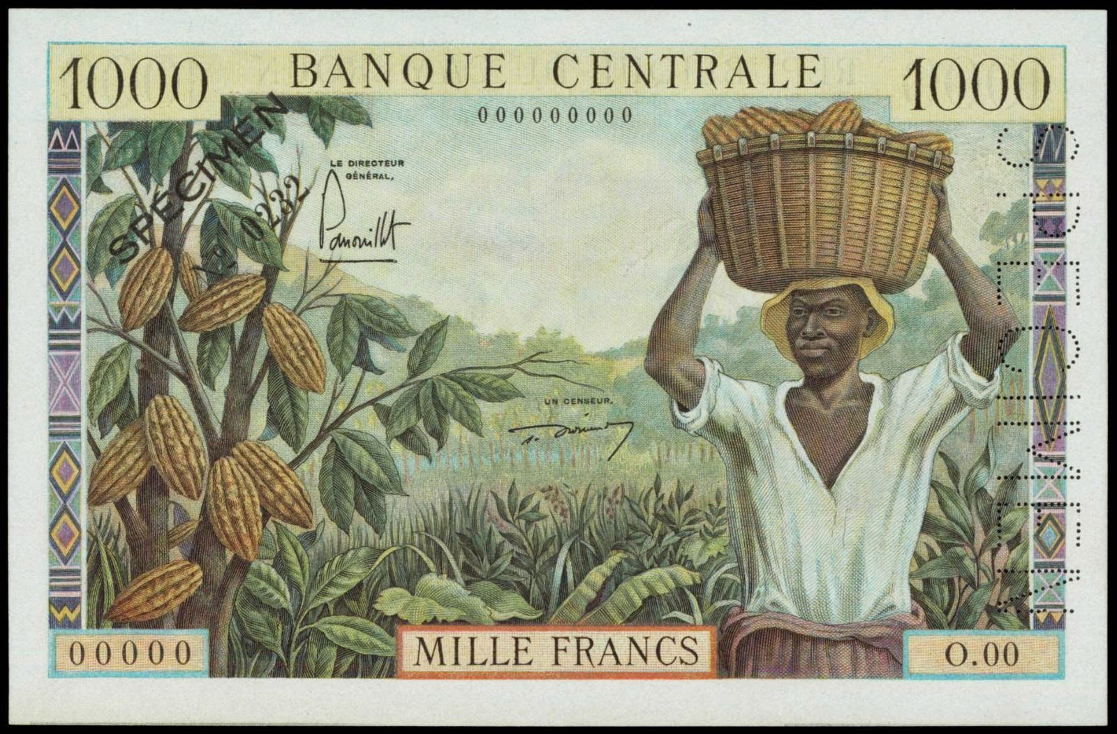 Cameroon banknotes 1000 Francs note 1961