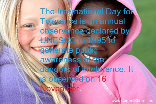International Day for Tolerance