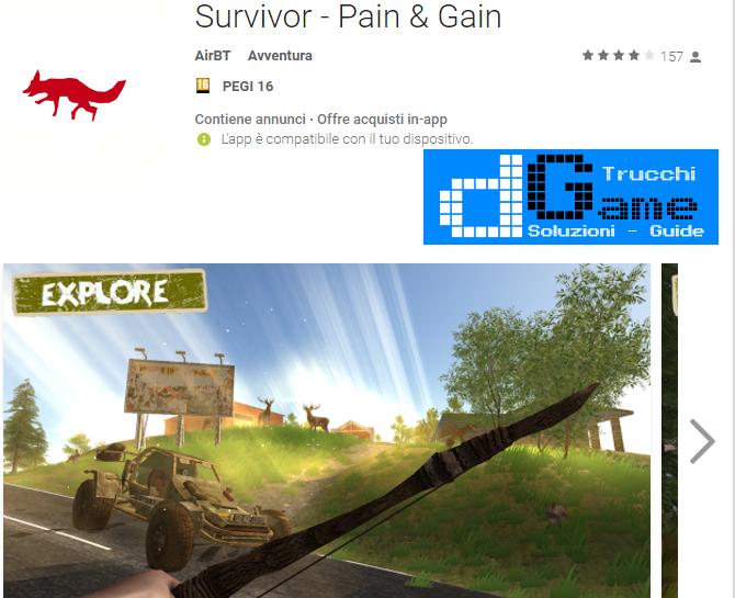 Trucchi Survivor – Pain & Gain Mod Apk Android v1.04