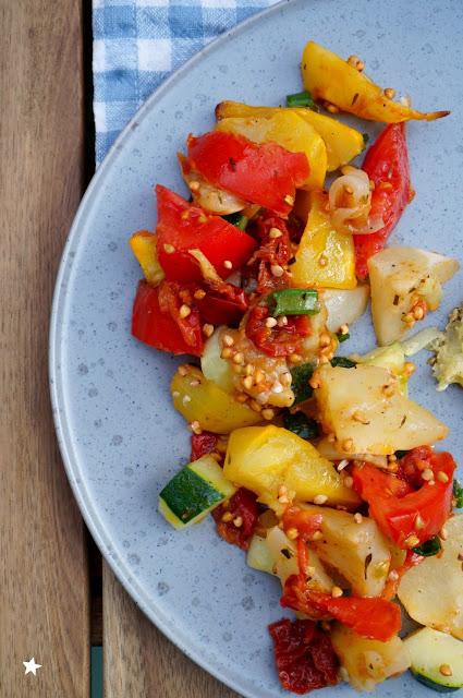 salade pâtisson rôti vegan sans gluten recette estivale manger sain