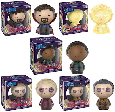 "Doctor Strange Movie Dorbz Vinyl Figures by Funko x Marvel - Doctor Strange, GameStop Exclusive ""Astral"" Doctor Strange, Karl Mordo, Kaecilius & Zealot"