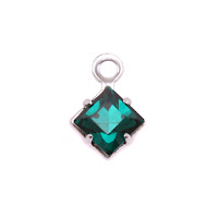 Swarovski Xilion Square Fancy Crystal (Emerald - MAY)