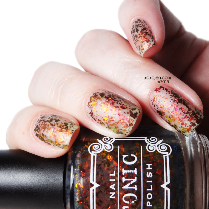 xoxoJen's swatch of Tonic Down in Flames