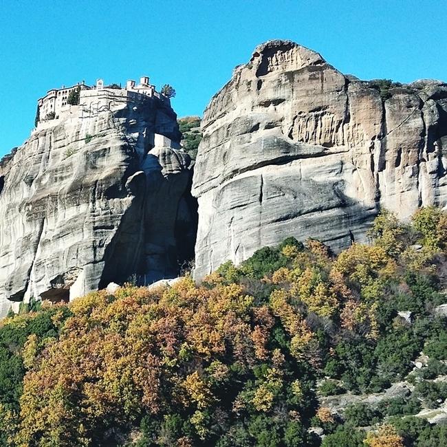 Jelena Zivanovic Instagram @lelazivanovic.Glam fab week.Meteora rocks,Greece,Kalambaka.Stene Meteora,Grcka.