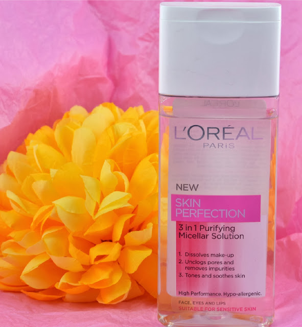 Loreal - Skin perfection - Micellar solution - micellar water - skincare - review - cleanser