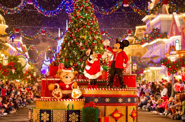 Festas e comemorações de Natal nos parques Disney
