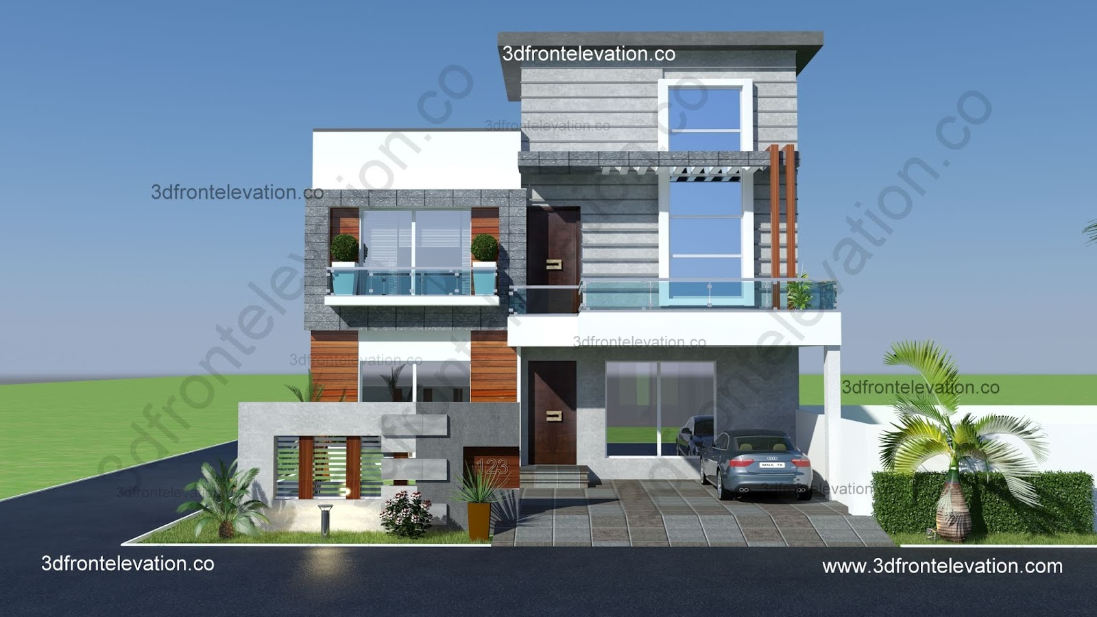 1 kanal house drawing , floor plans , layout with Basement in DHA