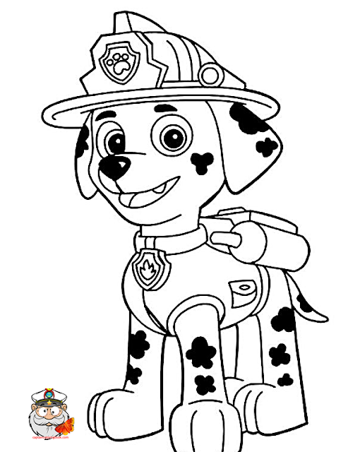 Paw Patrol Marshall coloring page free