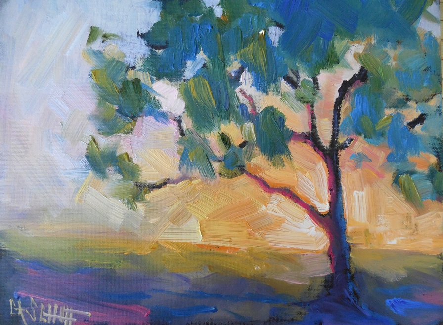 Daily Painters of Florida: The Golden Hour, Daily Painting