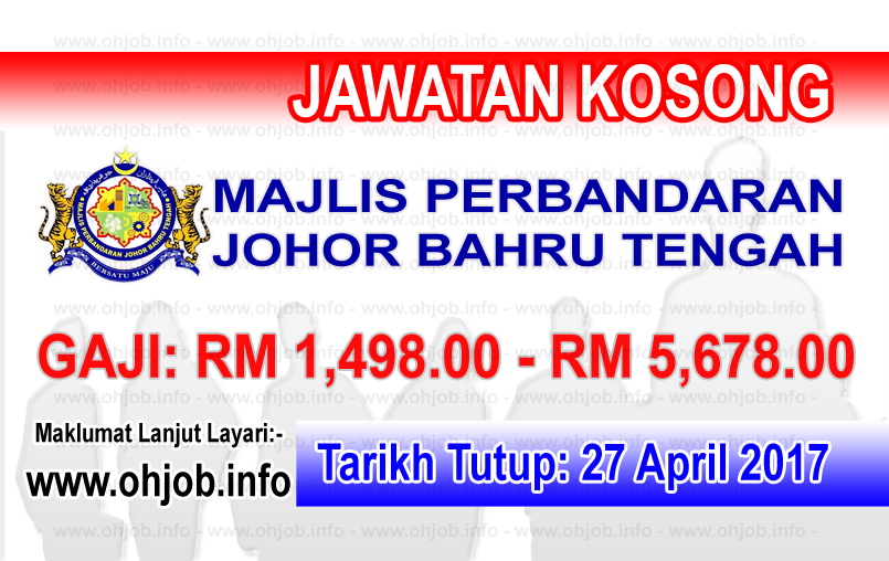 Jawatan Kerja Kosong MPJBT - Majlis Perbandaran Johor Bahru Tengah logo www.ohjob.info april 2017