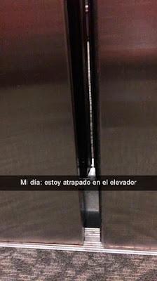 medico queda atrapado en un elevador