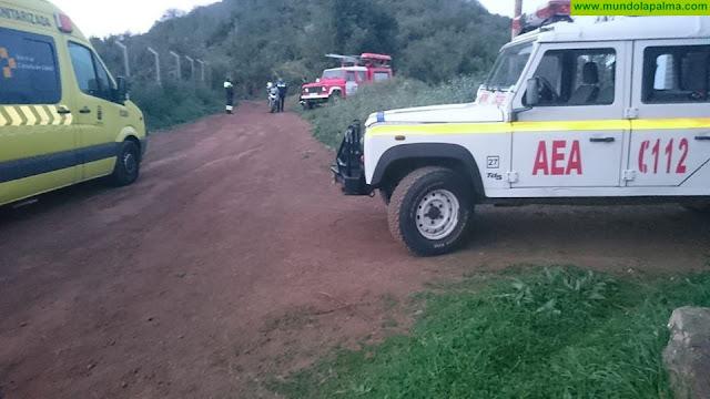 Ciclista herido tras sufrir una caída en Puntallana
