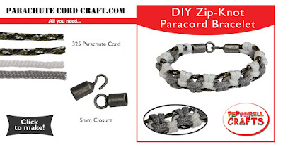 Free Easy Paracord Zipper Knot Bracelet Download