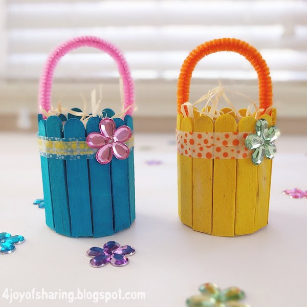 The joy of sharing cute and easy easter basket craft for Wood craft ideas for kids