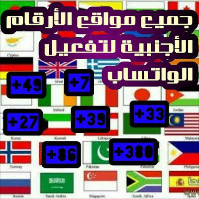 جميع مواقع الارقام الاجنبية والاوربية مواقع ارقام صيني - روسي - الماني - فرنسي - بلجيكي - بولندي
