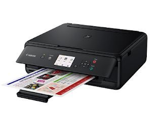 The nearly effective residence printer Take the inconvenience from habitation printing Canon PIXMA TS5055 Driver Download