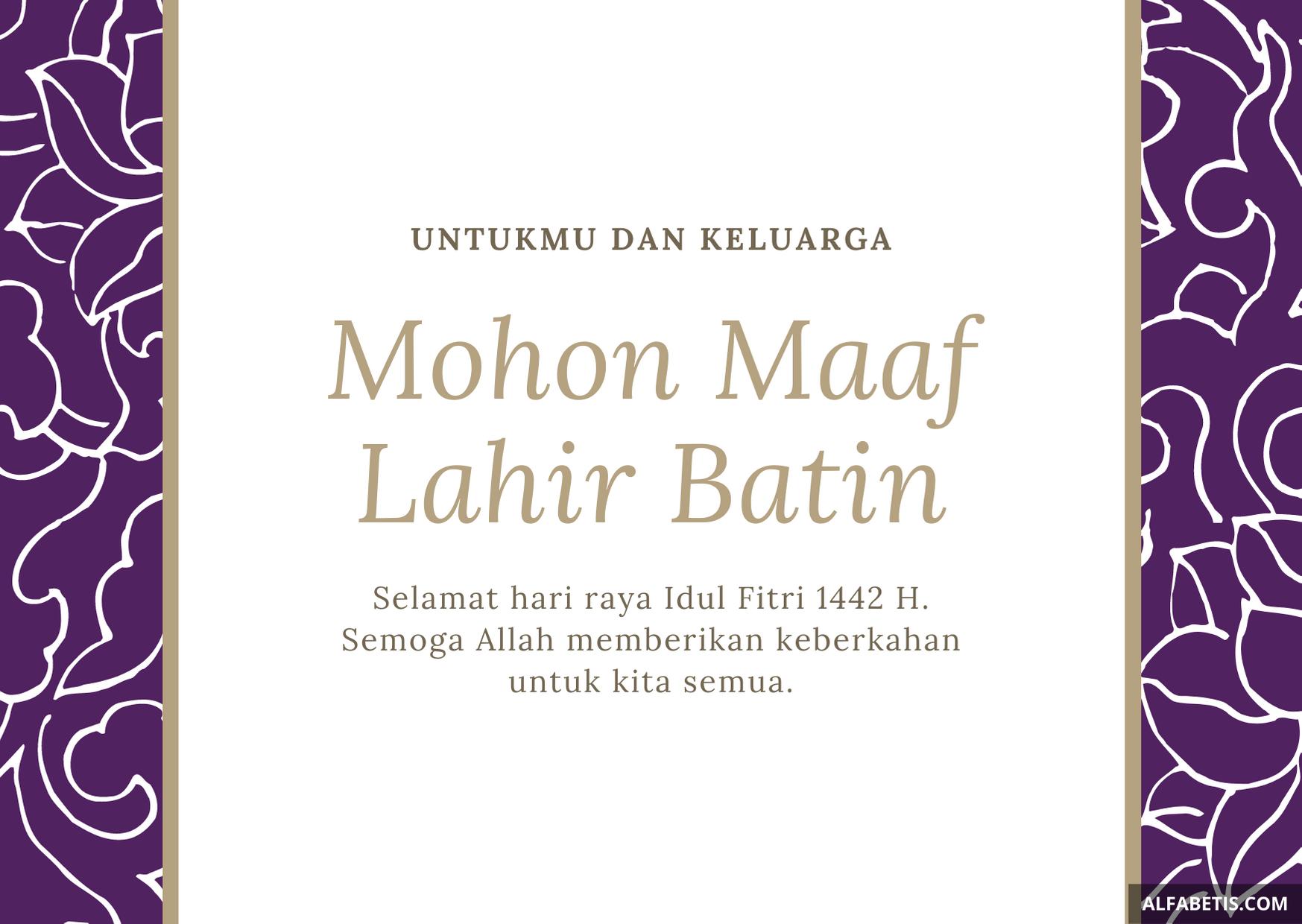 Contoh Desain Kartu Idul Fitri PDF
