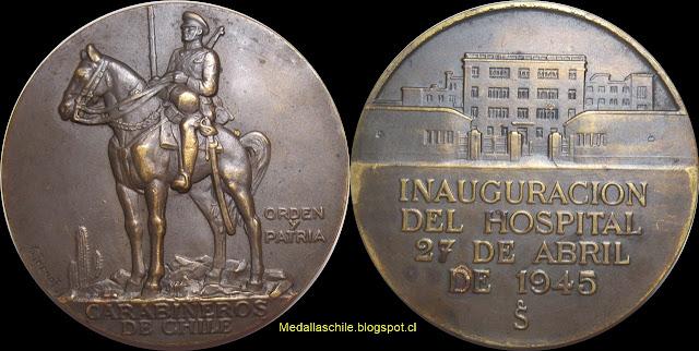 Medalla Hospital de Carabineros 1945 Inauguración