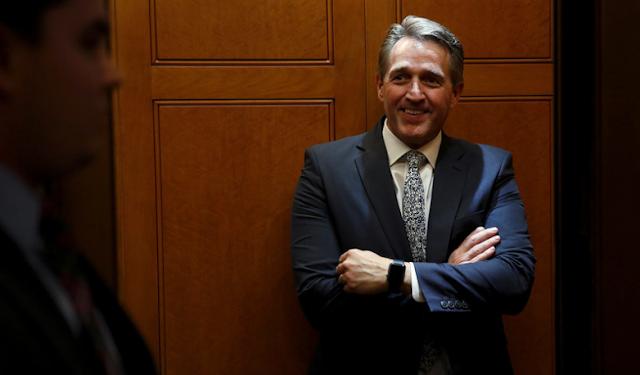 Sen. Jeff Flake threatens bill to block Trump's tariffs