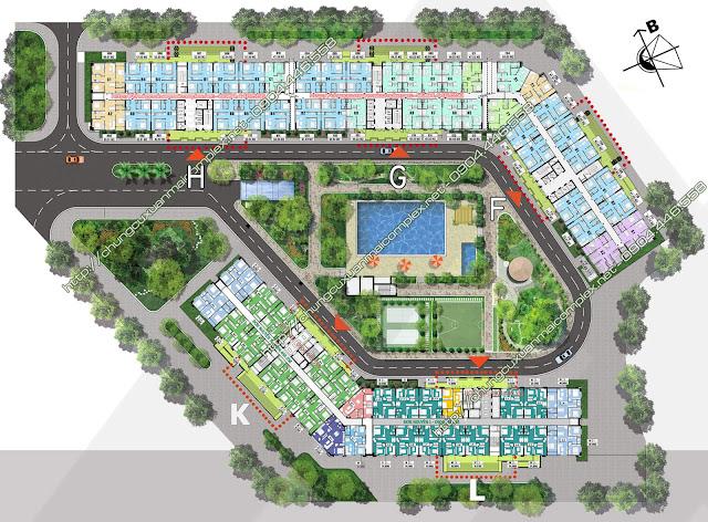 Mặt bằng tổng thể dự án Xuân Mai Complex