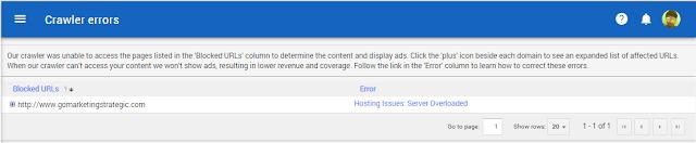 Crawler errors Pada Google Adsense