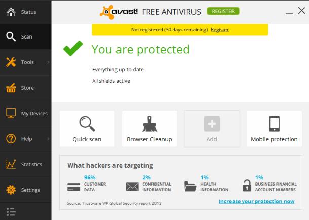 تحميل برنامج أفاست للحماية من الفيروسات بإصداره الجديد Avast Free Antivirus 2014