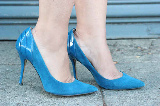 Enzo Angiolino Blue Suede Pumps