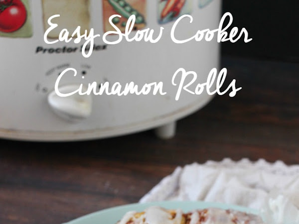 Easy Slow Cooker Cinnamon Rolls