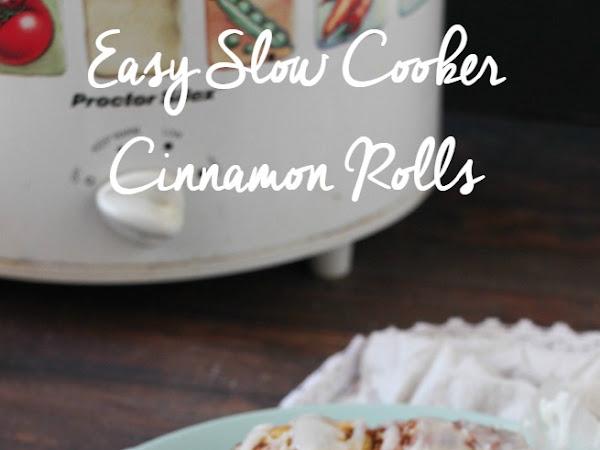 Easy Slow Cooker Cinnamon Rolls