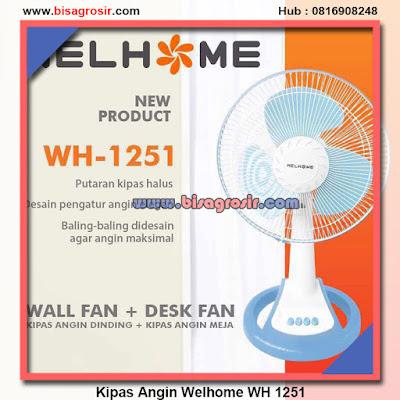 Welhome WH 1251 Kipas Angin Dinding Dan Meja