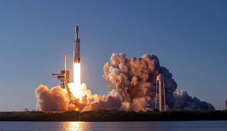 Drugi start Falcona Heavy. Credit: SpaceX