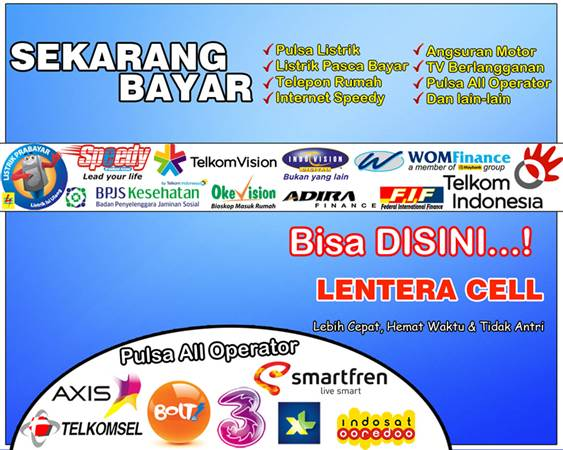 Contoh Jasa Banner Konter Lentera Cell