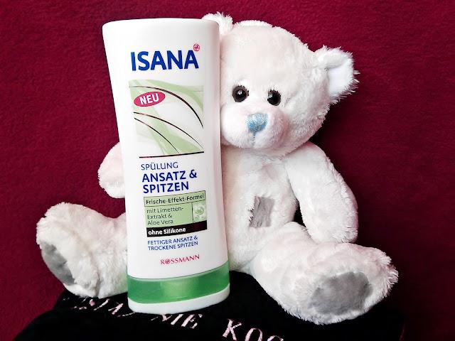 Isana Hair, Ansatz & Spitzen, Spulüng - Odżywka pielęgnująca włosy od nasady aż po końce