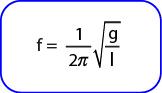 Rumus Frekuensi bandul sederhana