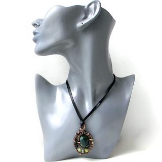 Купить медные украшения, кулоны подвески с камнями украина