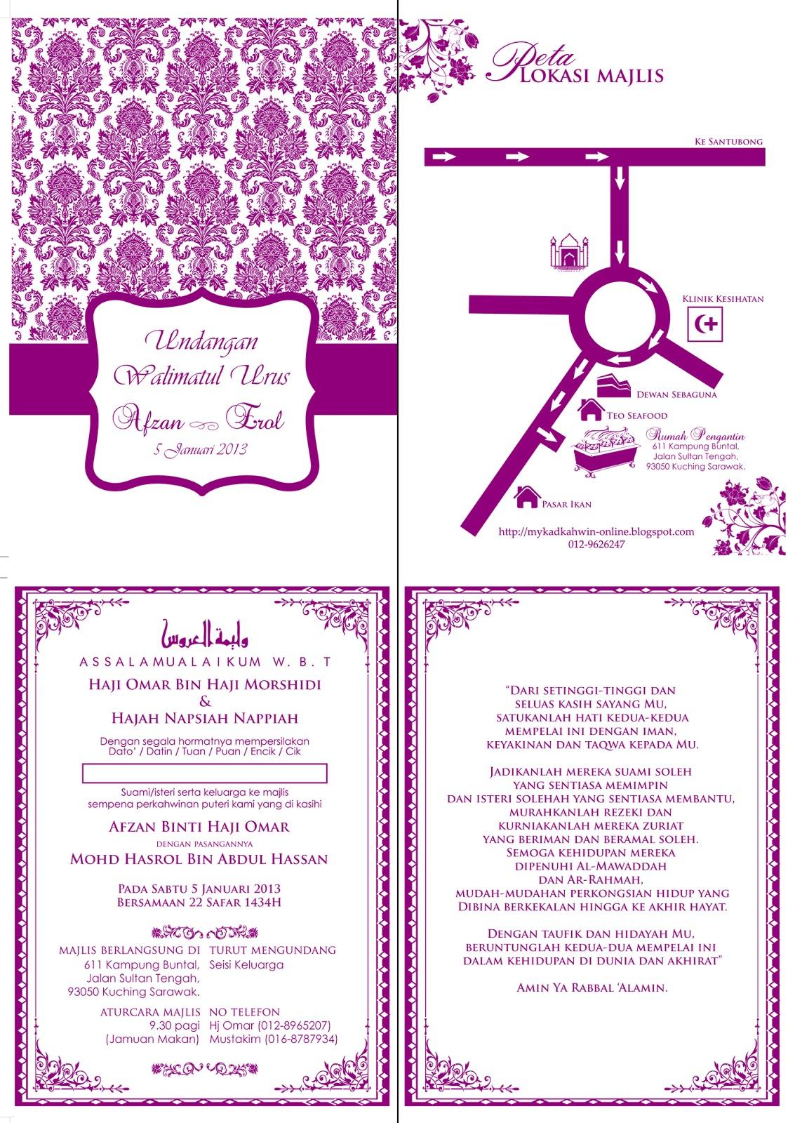 Kad Kahwin Area Kota Kinabalu Berbagai Bekalan Rumah