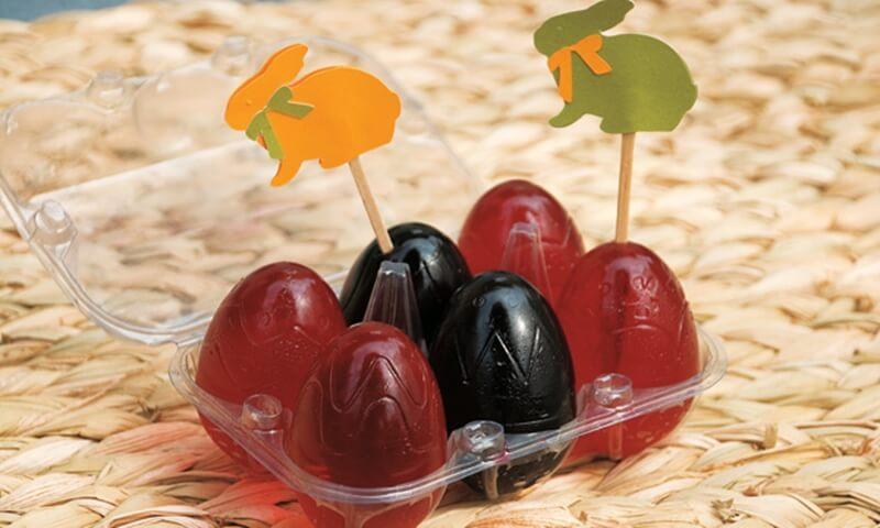 Ovos de Páscoa de Gelatina