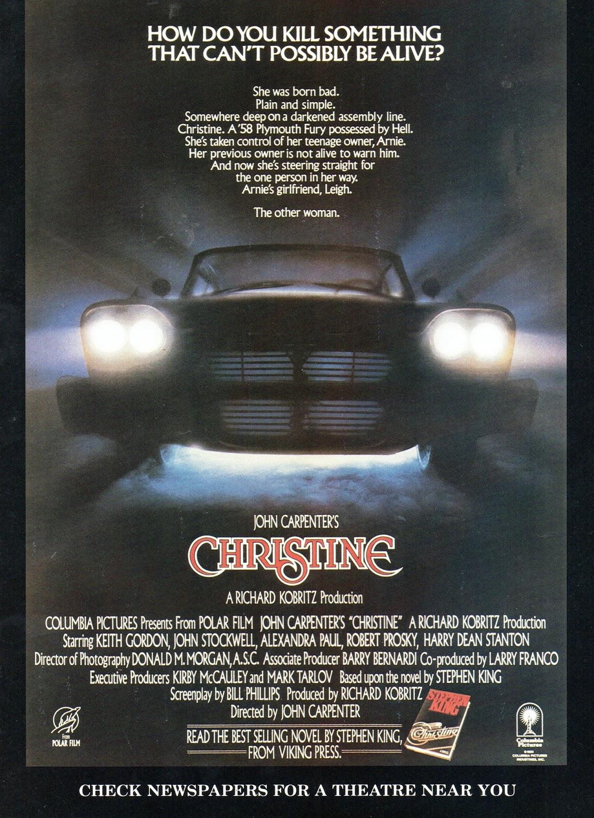 Christine (1983) One-Sheet Movie Poster - Original Film ... |Christine 1983 Poster Back