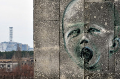 Chernobyl graffitti: child crying
