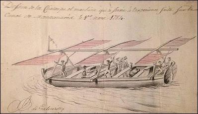 Bernardo de Gálvez, ciencia, inventor, Pensacola, militar, Manzanares, Royal Society, lancha, bote, velas, artefacto, globos aerostáticos