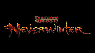 the neverwinter online logo with the D&D logo right above it