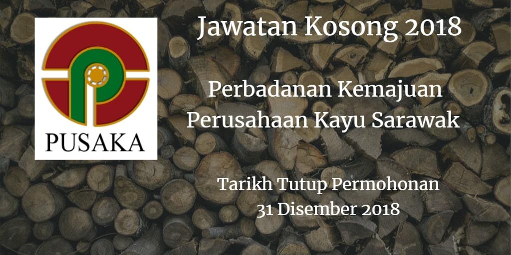 Jawatan Kosong PUSAKA 31 Disember 2018